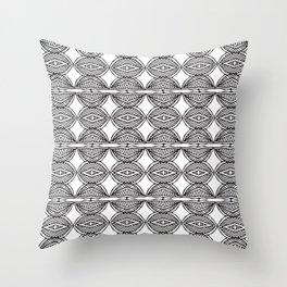 African ethnic geometric pattern 1 Throw Pillow