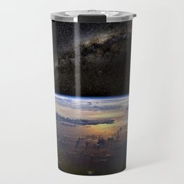Space Station view of Planet Earth & Milky Way Galaxy Travel Mug