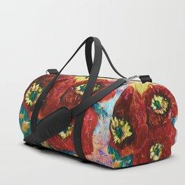 Three Poppies by Lena Owens @OLena Art #Society6 Duffle Bag