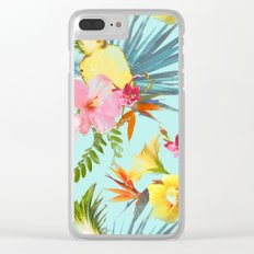 Tropical summer Clear iPhone Case