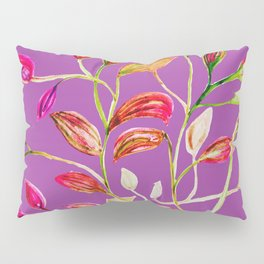 For Valentine's Day Enjoy Purple Plum, Red and Green Leaves! Pillow Sham