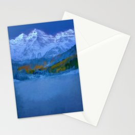 Maroon Bells Early Morning Abstract Stationery Cards