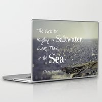the cure Laptop & iPad Skins featuring Saltwater Cure by ShadeTree Photography