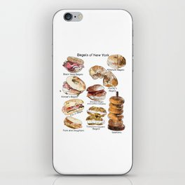 Bagels of New York City iPhone Skin
