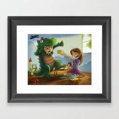 Tea-Riffic Play Time Framed Art Print