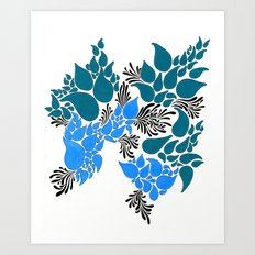 Blue Number 2 Art Print