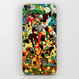 Finger spatter iPhone Skin