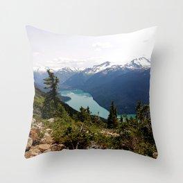 Turquoise gem of mountains - Cheakamus Lake Throw Pillow