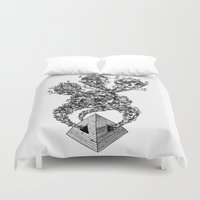 pyramid Duvet Covers featuring Pyramid by Vera Moire