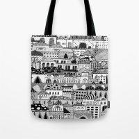palestine Tote Bags featuring Jerusalem, Palestine by LaPe