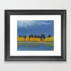 Jumbo Lake in the Fall 2015 Framed Art Print