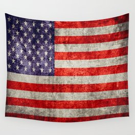 Antique American Flag Wall Tapestry