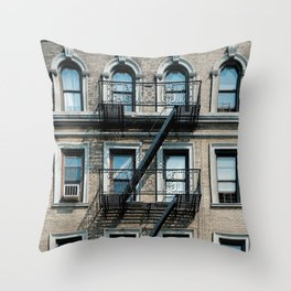 Facades of NY - 01  Throw Pillow
