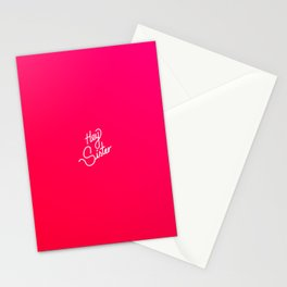 Hey Sister   [gradient] Stationery Cards