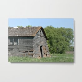 An Abandoned Barn Collapsing Metal Print