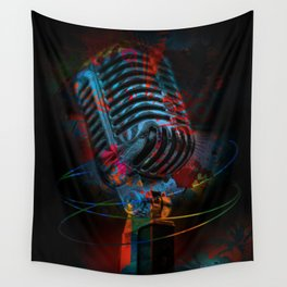 Into the Microphone Wall Tapestry