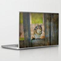 vermont Laptop & iPad Skins featuring Vermont Chippy by Deborah Benoit