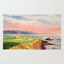 Pebble Beach Golf Course Hole 7 Rug