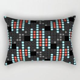 BRIXHAM, VINTAGE RETRO SQUARES: SIXTIES OFFICE Rectangular Pillow