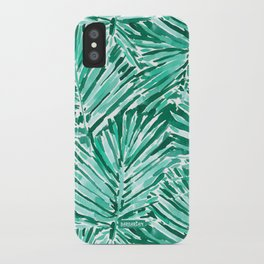 ON VACAY Green Palm Leaves iPhone Case
