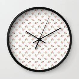 Dotty Dogroses Wall Clock