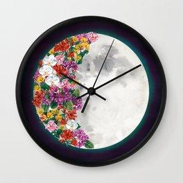 Flower Moon Wall Clock