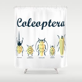 Coleoptera bugs Shower Curtain
