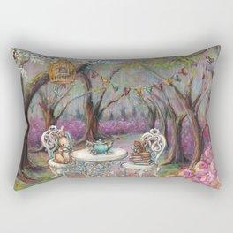 Vintage Woodland Tea Party Rectangular Pillow