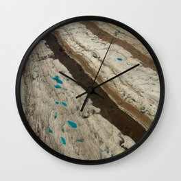 ALASKA III: Ruth Glacier Textures Wall Clock
