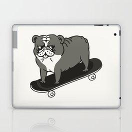 Skateboarding English Bulldog Laptop & iPad Skin