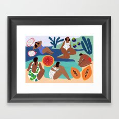 Fruity Bay Framed Art Print