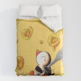 Gooey, Cheesy Hearts Comforters