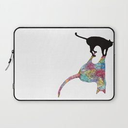 The Cat and Its Shadow Laptop Sleeve