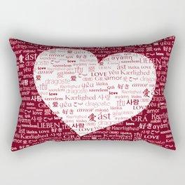 Borderless Love - Red Rectangular Pillow