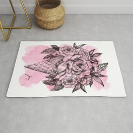 Floral Ice Cream Pink Rug
