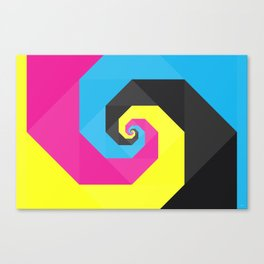 CMYK triangle spiral Canvas Print