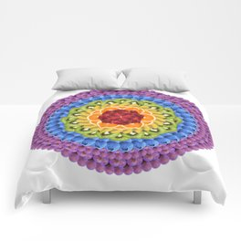Rainbow of Fruit Mandala Comforters