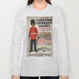Vintage poster - Canadian Grenadier Guards Long Sleeve T-shirt