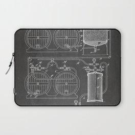 Brewery Patent - Beer Art - Black Chalkboard Laptop Sleeve