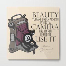 Say Cheese! collection: vintage folding camera Metal Print