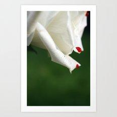 Bleeding Rose Art Print