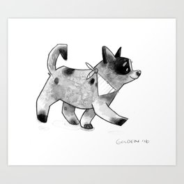 Cattledog Pup On the Move Art Print