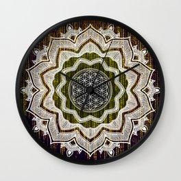 Virtual Spirit Mandala Computer Code Wall Clock