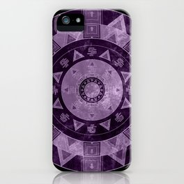 ethnic circle with watercolors iPhone Case