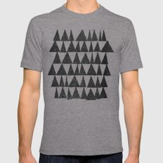 Analogous Shapes. Mens Fitted Tee Tri-Grey MEDIUM
