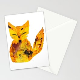 Pressed Flower Fox Stationery Cards