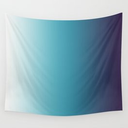 Blue White Gradient Wall Tapestry