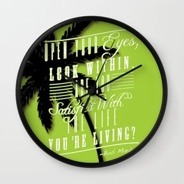 open your eyes look within  Wall Clock