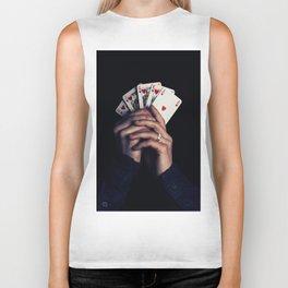cards poker win Biker Tank