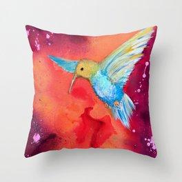 Autumn Hummingbird Throw Pillow